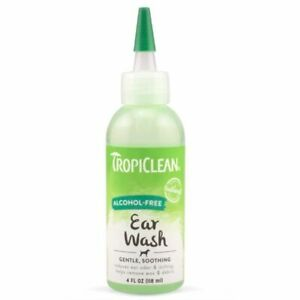 Tropiclean Alcohol Free Ear Wash 118ml - Dog Cat Puppy Gentle Cleansing