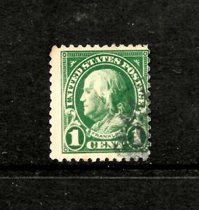 1923 US, SC 578, 1c Green, Benjamin Franklin, FU