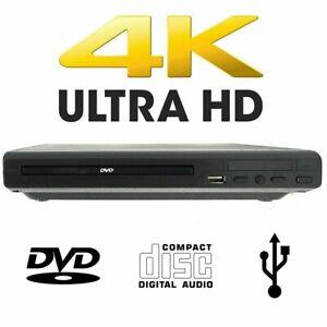 LETTORE DVD EVD CD USB PLAYER FILM 4K MUSICA FOTO VIDEO + TELECOMANDO LEOVIN
