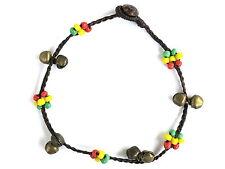 Girls Ladies Rasta Bell Bead Ankle Bracelet Foot Anklet Hippie Boho Handmade