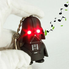 Cool Red Light Up LED Star Wars Darth Vader With Sound Keyring Keychain Toys