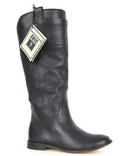 FRYE BOOTS Paige Tall Riding Black Calf Leather Boots 77535 SZ 6.5 $378