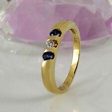 Echte Edelstein-Ringe im Band-Stil mit Saphir für Damen