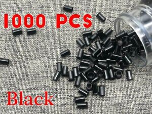 1000PC Extension 6mm Copper Tube Beads Micro Link Rings Lined for Hair Extension