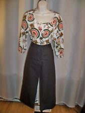EILEEN FISHER PETITE BROWN WIDE LEG CUFFED CROP PANTS PETITE PETITE NWT $198 WOW