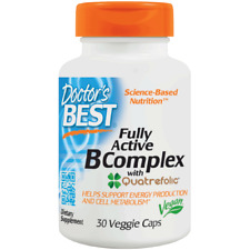 Doctor's Best Fully Active B Complex Nutritional Supplement 30 Count 753950002999