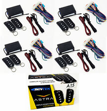 4x Aftermarket Key-less Entry Car Alarm Security System, 4 Pack Deal Skytek A15