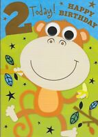 AGE 2 2ND CHILDS CUTE BIRTHDAY CARD CARDS**ANIMALS**CHOICE OF* 1ST CLASS POST B5