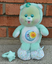 Plush BABY BEDTIME CUB Care Bear Flocked VINTAGE Kenner PACIFIER ACCESSORY BOOTS