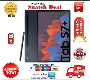 SAMSUNG GALAXY TAB S7 PLUS SM-T970 128GB+6GB RAM WIFI MYSTIC BLACK WITH S PEN