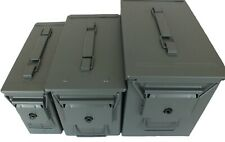 More details for brand new metal ammo box storage tin army ammunition tool box green waterproof