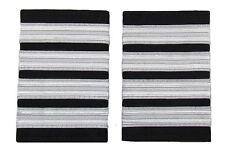 Pilot Captain, Silver Strips Epaulettes, Airline, First Officer 4 Bars R829-04
