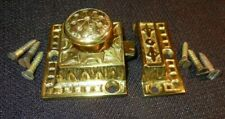 Victorian Eastlake Brass Hardware Medicine Cabinet Fancy Catch Lock & Screws