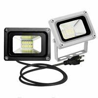 LED Flood Light 10W Outdoor Spotlight Landscape Lamp w/ US Plug AC110V/DC12V New