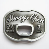 Always Open Beer Bottle Opener Belt Buckle Gurtelschnalle Boucle de ceinture