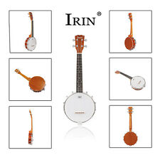 IRIN Banjo 4 string with Hard Case- 60cm length,Rubber String