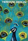 Peacock 1960 Zoo Berlin Germany Vintage Poster Print Retro Travel Ad Decoration