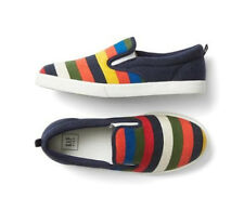Gap Crazy Stripes Color Factory Slip On Shoes Rainbow Women's 7 NWT Rare Comfort