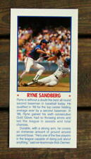 "Ryne Sandberg 5""X11"" Photo Placard Mask Booklet Cut Mint Oddball"