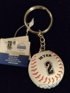 Derek Jeter #2 Steiner Sports Mini Replica Signature Baseball Key Chain