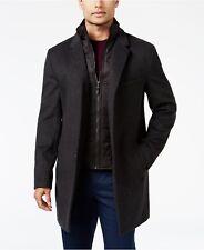 Michael Kors Slim 48L Black Solid 3 Button NWT Men's Overcoat / Jacket GS070