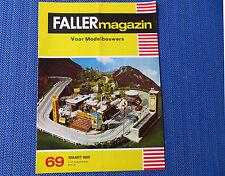 Faller AMS ---  Faller Magazin 69, März 1969, Sprache Niederländisch