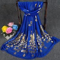 1xDark Blue Fashion Women Long Print Scarf Wrap Ladies Shawl Girls Large Scarves