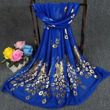 Dark Blue Fashion Women Long Print Scarf Wrap Ladies Shawl Girls Large Scarves