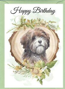 "Tibetan Terrier Dog (4""x 6"") Birthday Card with blank inside - by Starprint"