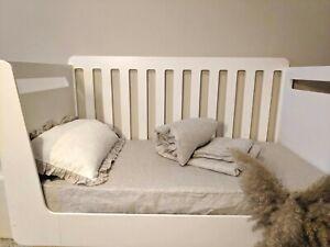 Baby Linen Crib bedding set 3pc Fitted sheet duvet cover pillowcase nursery