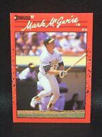 """MARK MCGWIRE  1990 Donruss No Dot After """"Inc"""" Error Card HOF MINT"""