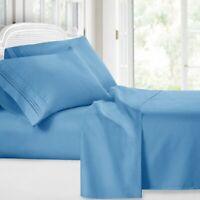 6 Piece Egyptian Comfort 1800 Thread Count Deep Pocket Bed Sheet Set MY