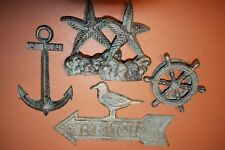 (10) Antique-look Cast Iron Starfish Design Bookends Home Decor Set,Beach Galore