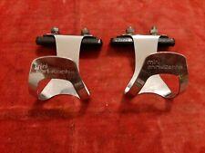 NOS Christophe LAPIZE in acciaio cromato piccolo Toe Clip anni 1980