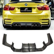 Carbon Fiber Rear Bumper Diffuser Lip For BMW F80 M3 F82 M4 V Style 2014+ 3PC