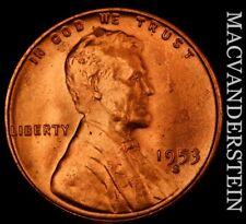 1953-S Lincoln Wheat Cent - Choice Gem Brilliant Uncirculated  #NR9429