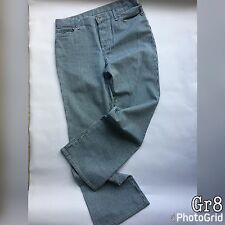 Next Womens Ladies Jeans Wide Leg 12R W33 L32 Blue White Striped Wide Leg