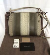 Bottega Veneta Striped Leather Pillow Pouch Shoulder Crossbody Bag