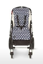 New Outlook Travel Baby Pram Liner Blue Elephants Pure Cotton