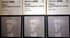 JOHN LOCKE SAGGIO SULL'INTELLIGENZA UMANA LATERZA 1972 3 VOL.UMI INT C. A. VIANO