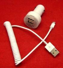 iPhone 6 6s 7 iPad Mini4 Air USB Spiral Daten Ladekabel Auto LKW PKW KFZ Adapter