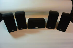 Bose (4) Double Cube Speakers Black and (1) Center Speaker