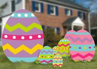 Easter Egg Yard Signs, 5 Count, With Metal Stakes for Your Lawn