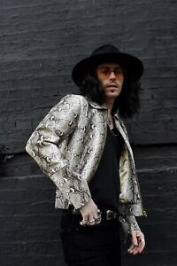 Phix Leather Snakeskin Jacket