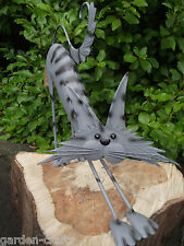 METAL GARDEN CAT - 'Clio The Cat' - Great for cat lovers - 40cm FREE DELIVERY!