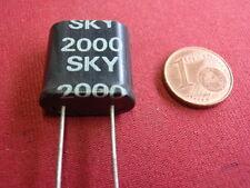 QUARZ 2,000Mhz =2000Khz    gr. BAUFORM  X-TAL                     22891-41