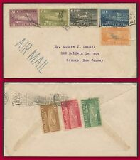 Brief,Flug der Havana Orange, New Jersey Staaten Vereinigte / flight cover