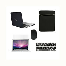 """5 in1 Rubberized BLACK Case for Macbook PRO 15"""" Retina +Key Cover+LCD +Bag+Mouse"""
