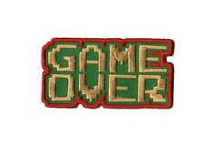 Game Over Ecusson brodé sous blister gaming jeux video game over geek patch