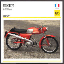 1965 Peugeot 50cc BB Honda Moped Scooter Motorcycle Photo Spec Sheet Info Card